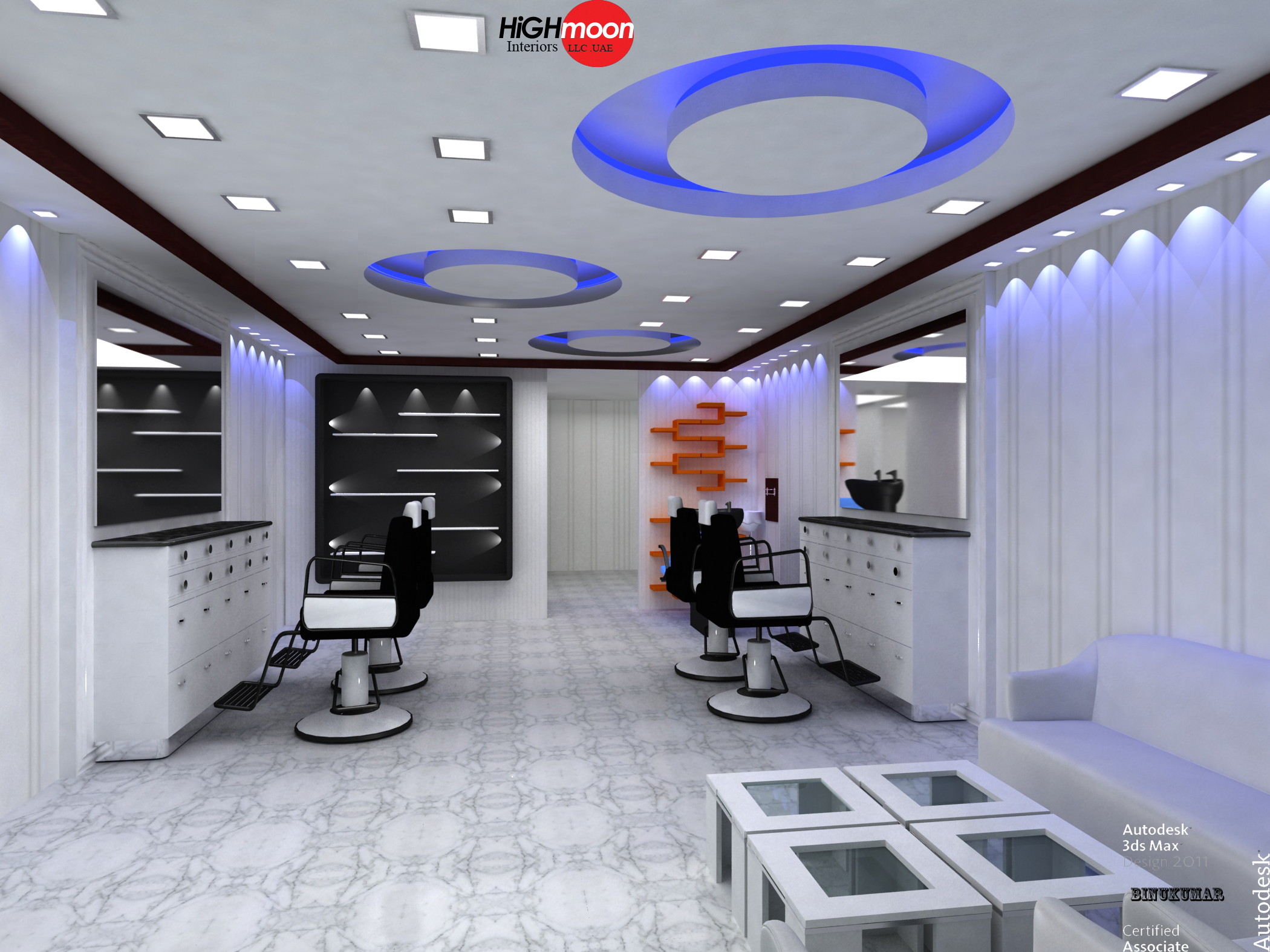 Salon interiors in dubai all about interiors for Hair salon interior design photo