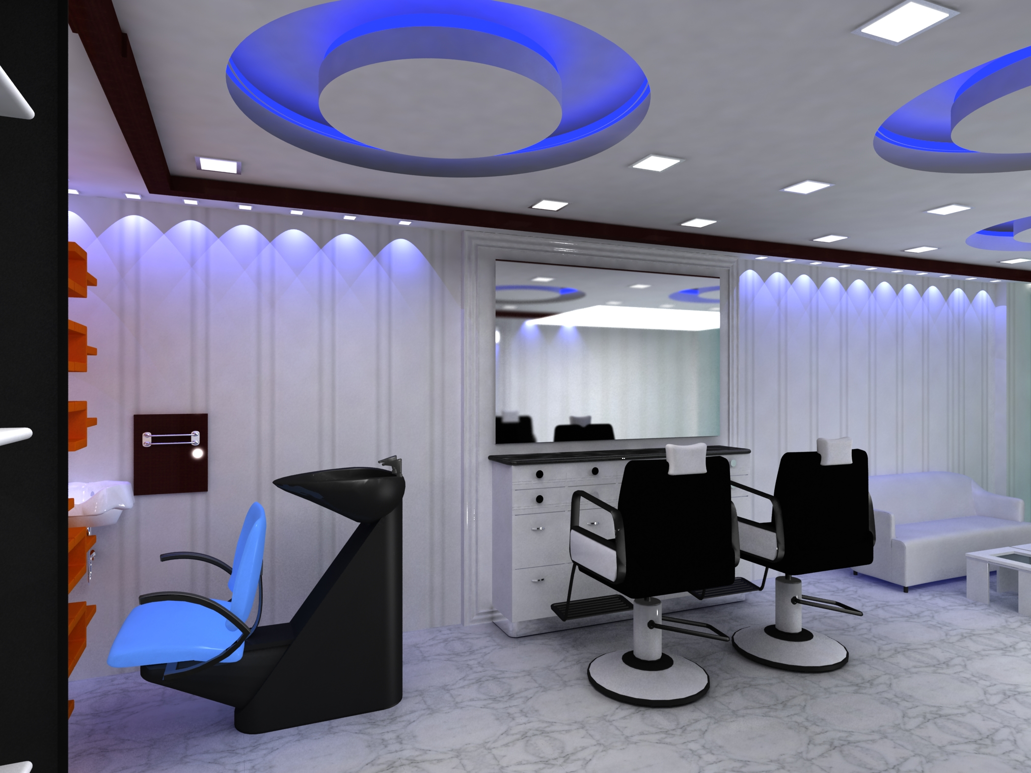 Designing Interiors For A Hair Salon Interiordecorationdubai