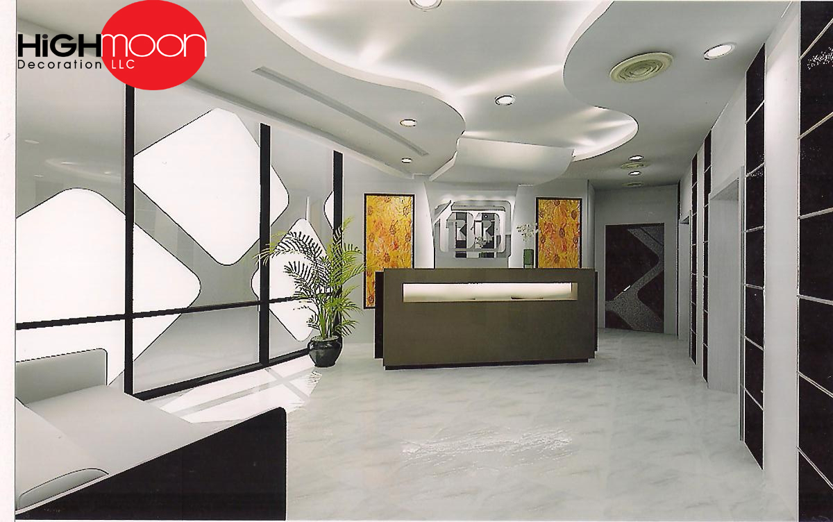 Modern office designs interiordecorationdubai for Office design lighting